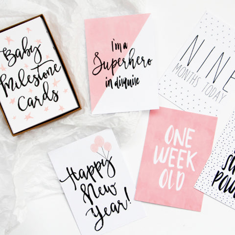 Baby Milestone Card Set (Girl)