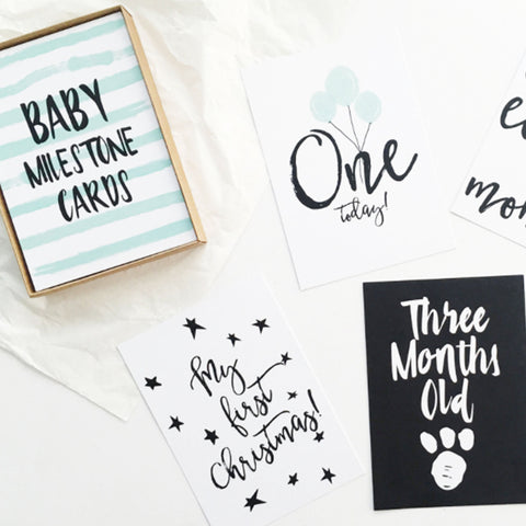 Baby Milestone Card Set (Neutral)
