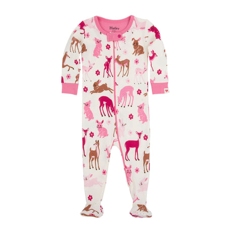 Deer & Bunnies Footed Coverall