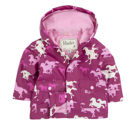 Fairytale Horses Baby Raincoat