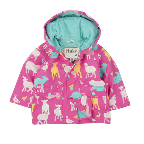 Hatley Farm Animals Raincoat