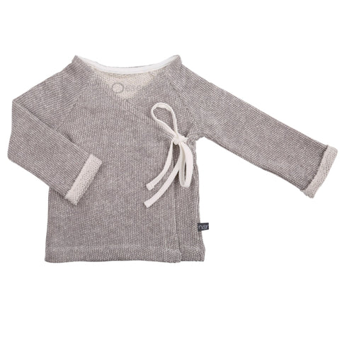 Wrap cardigan grey