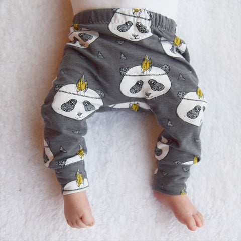 Fred & Noah Grey Panda Leggings