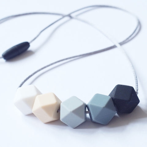 Blossom & Bear Monochrome Silicone Teething Necklace