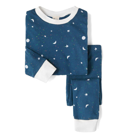 Sleepy Doe Unisex PJ Set: Galaxy