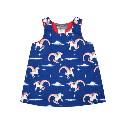 Navy Unicorn Dress