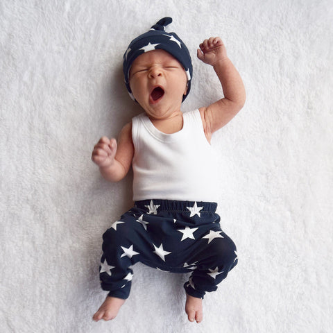Fred & Noah Navy Star Leggings