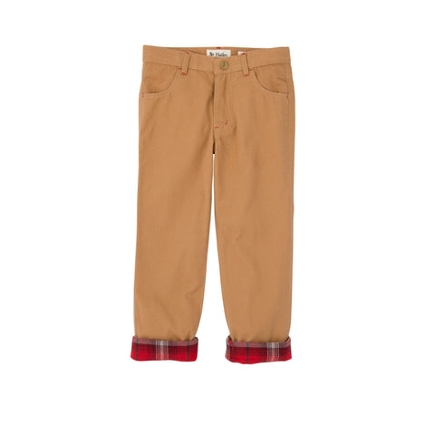 Khakis with Flanel Lined Cuff