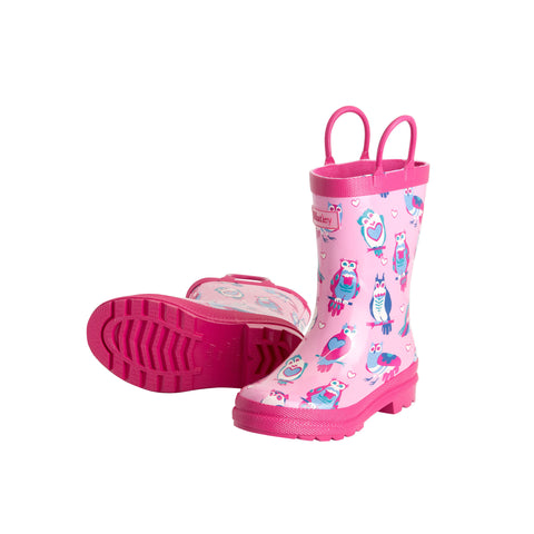 Happy Owl Rain Boot