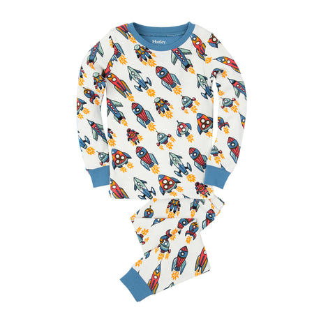 Retro Rockets Pajama Set