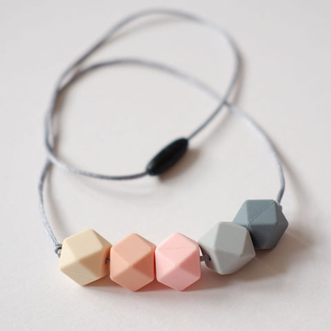 Blossom & Bear Rose Mix Silicone Teething Necklace