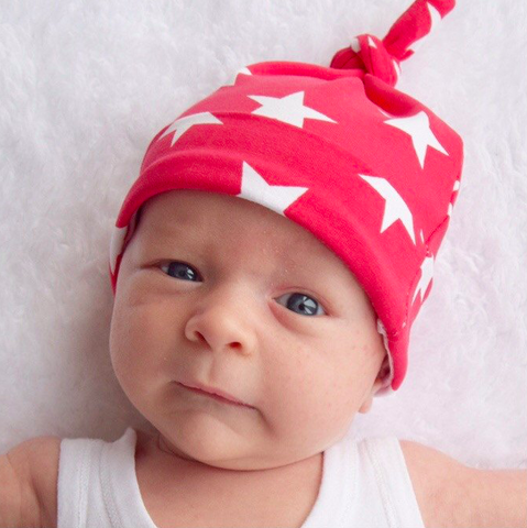 Fred & Noah Red Star Knotted Hat