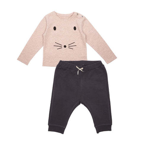 Emile et Ida Mouse Top & Cotton Trousers Set (Incl. Gift Box)