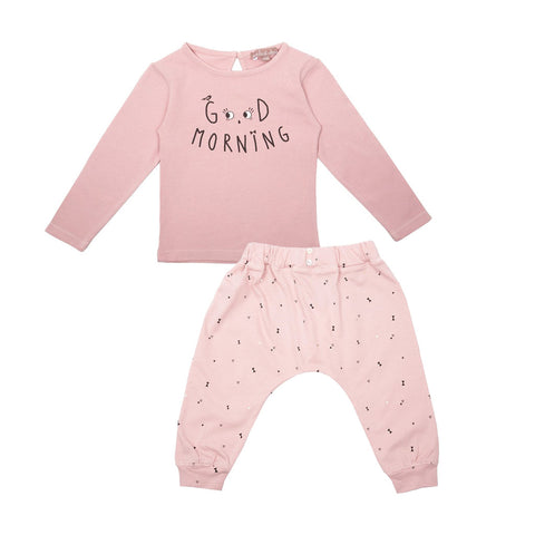 Emile et Ida Good Morning Top & Triangle Print Trouser Set (Incl. Gift Box)