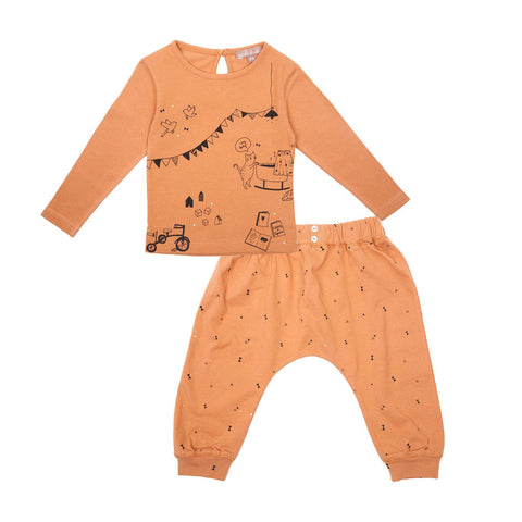 Emile et Ida arty Top & Triangle Print Trousers Set (Incl. Gift Box)