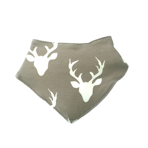 Fred & Noah Grey Stag Dribble Bib