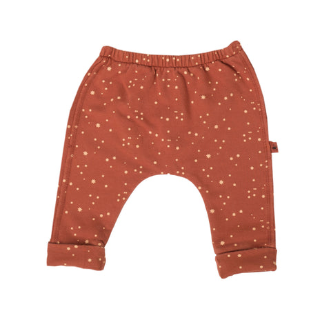 Burnt Orange Star Print Leggings