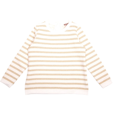Cream and Gold Striped Jumper