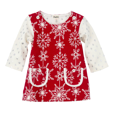 Pretty Snowflakes Baby Mod Dress