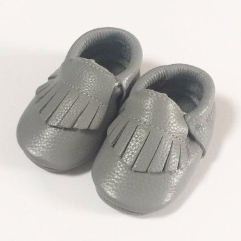 Grey Moccasins - Premium Leather