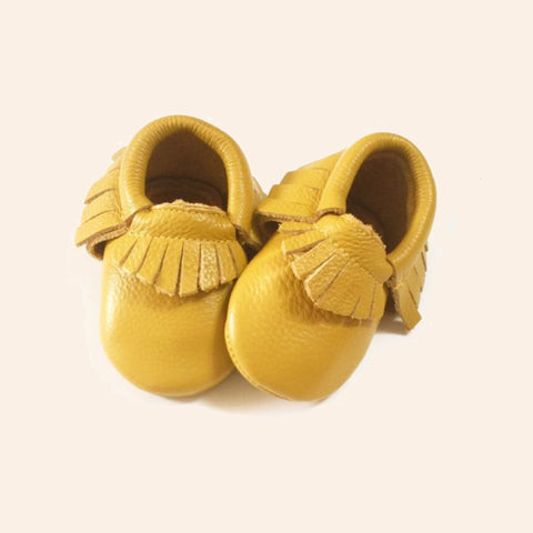 Mustard Moccasins - Premium Leather