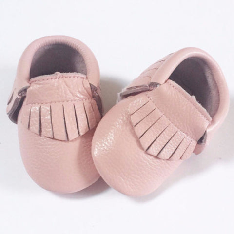 Baby Pink Moccasins - Premium Leather