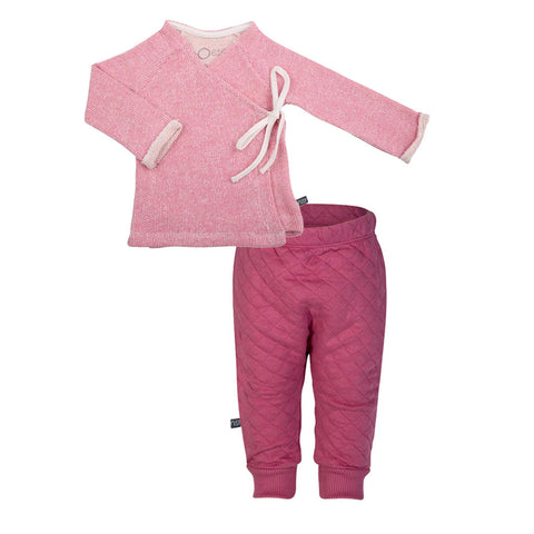 nOeser Wrap Cardigan & Quilted Pants Gift Set (Incl. Gift Box)
