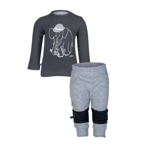 Elephant Top & Baggy Sweat Pants Gift Set (Incl. Gift Box)
