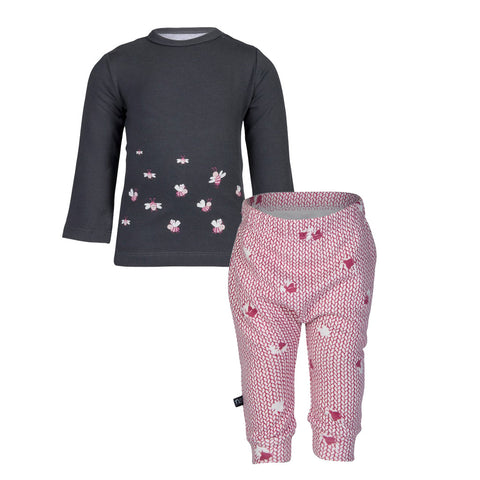 Pink Bee Tee & Pink Moth Pants Gift Set (Incl. Gift Box)