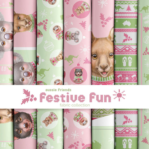 AUSSIE FRIENDS FESTIVE FUN by Elise Martinson for Devonstone Collections - NEW ARRIVAL