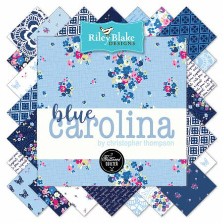 BLUE CAROLINA by The Tattooed Quilter for Riley Blake - SALE $17.00 p/m