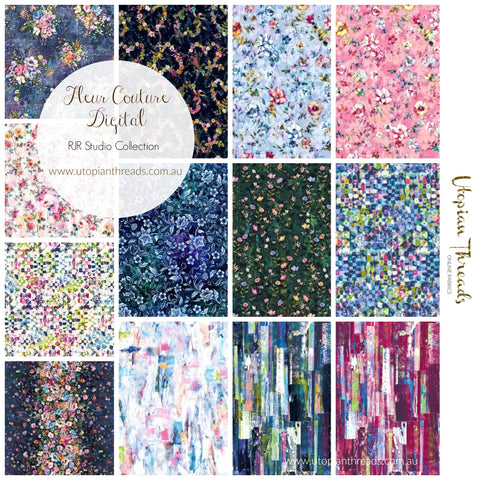 FLEUR COUTURE DIGITAL by RJR Studio Collection - PRE ORDER (Sept/Oct 2018)