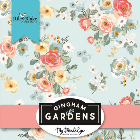 GINGHAM GARDENS by My Mind's Eye for Riley Blake - NEW ARRIVAL