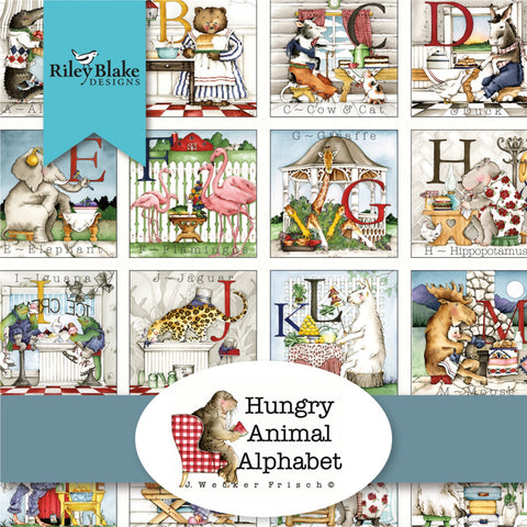 HUNGRY ANIMAL ALPHABET by Janet Wecker-Frisch for Riley Blake - NEW ARRIVAL