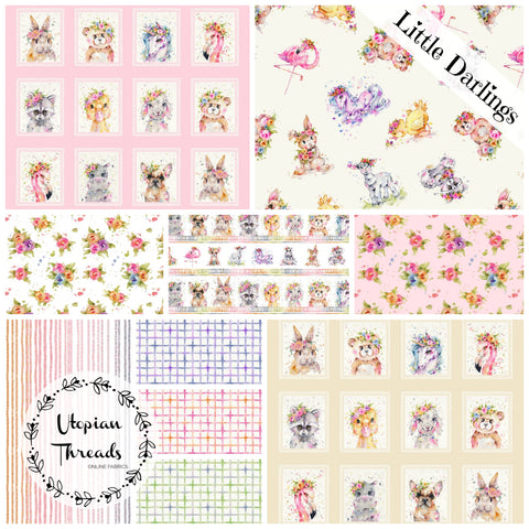 LITTLE DARLINGS by Sillier Than Sally Designs for P & B Textiles - NEW ARRIVAL