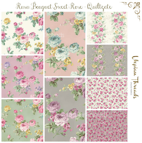 RURU BOUQUET SWEET ROSE by QUILTGATE - NEW ARRIVAL