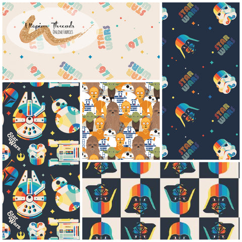 STAR WARS RETRO by Camelot Fabrics - NEW ARRIVAL