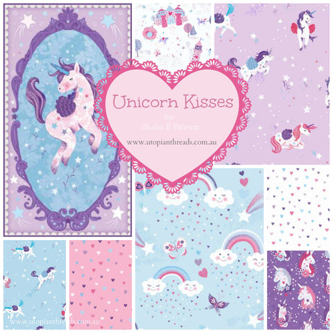 UNICORN KISSES by Lucie Crovatto for Studio E Fabrics