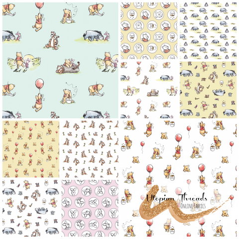 WINNIE THE POOH CLASSIC by Camelot Fabrics - NEW ARRIVAL