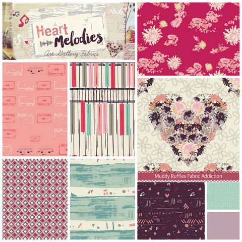HEART MELODIES by Art Gallery Fabrics SALE $17.00 p/w-