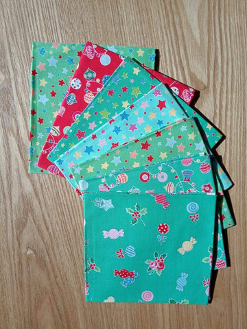 CURATED Fat Quarter Bundle 7 Flower Sugar Holiday