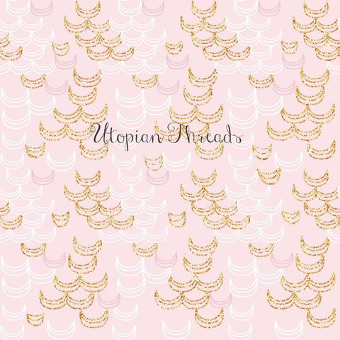 CUSTOM DIGITAL WOVEN Love Sweet Love - Half Moons Pink - SALE $13.00 p/m