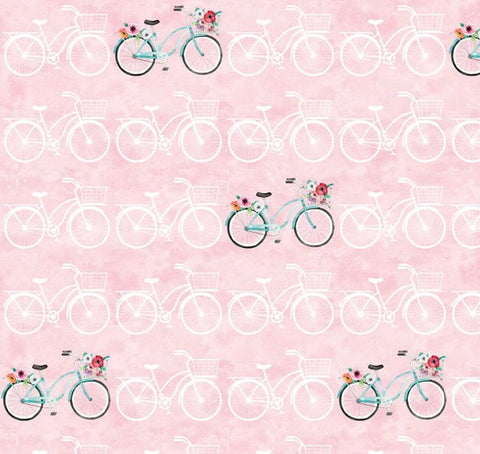 APRIL SHOWERS Bicycles Pink