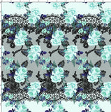 CUSTOM DIGITAL FABRIC Aqua Lace Luxe - Design G