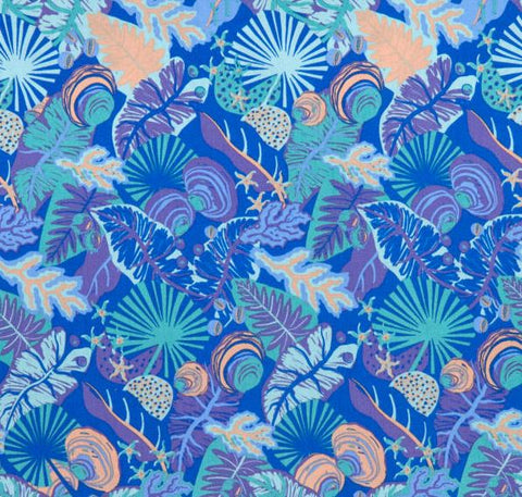 AROUND OZ Daintree Coastal (GOTS Certified Organic Quilting Cotton) - SALE $23.00 p/m