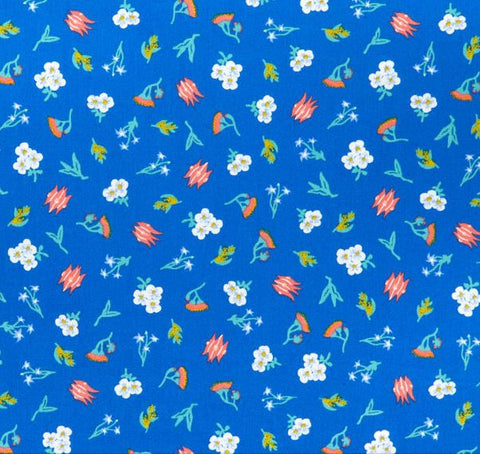 AROUND OZ Ditzy Floral Outback (GOTS Certified Organic Quilting Cotton)