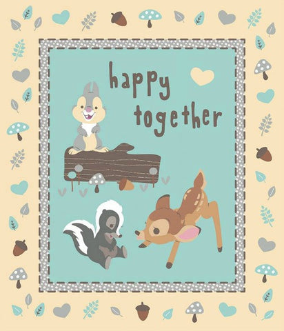 BAMBI & FRIENDS Panel - SALE $13.00 per panel
