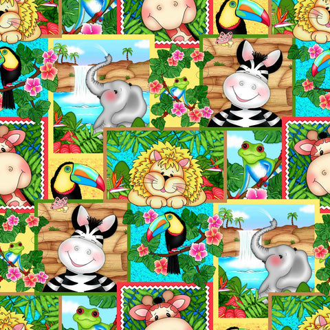 BAZOOPLE WATERFALL Animal Patch Multi - NEW ARRIVAL