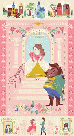 BEAUTY & THE BEAST Pink Panel - NEW ARRIVAL