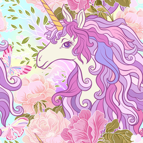 CUSTOM DIGITAL KNIT Unicorn Whimsy - Portrait Pastel - NEW ARRIVAL